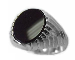 image of 40-b625w MENS STONE RING_12X10 OVAL CUT BLACK ONYX RING