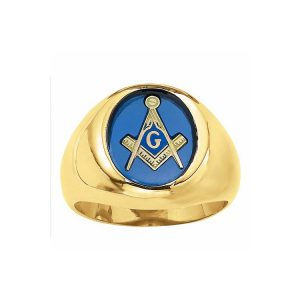 40-mg183 Mans Masonic Stone ring, Fine quality oval shape stone, Bezel set