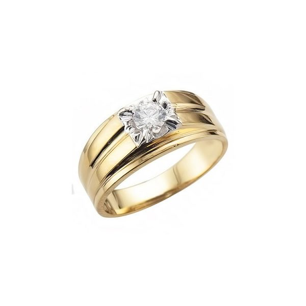 IMAGE OF 41-RM317 MAN DIAMOND RING_SOLITAIRE STYLE FOR GENTLEMEN, 0.35CT.