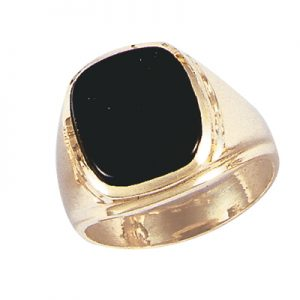image of 45-G138 Men stone rings_Black onyx bezel set