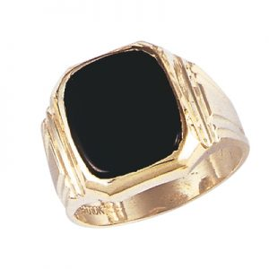 image of 45-G582 Men stone rings_Black onyx bezel set