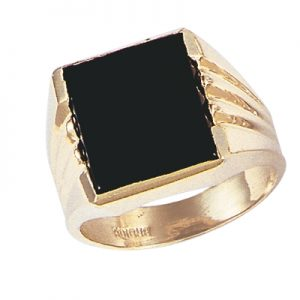 image of 45_G137 Men stone rings_Black onyx 12x16mm bezel set,