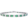 image of BR-100EA Diamond bracelets_3-00ct-emerald-and-diamond-genuine-tennis-bracelet-14k-white-gold