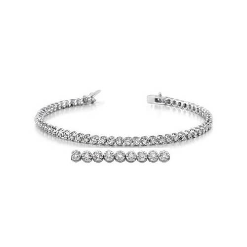 image of BR-D1021 Diamond bracelets_2ct-diamond-tennis-bracelet-14k-white-gold-2 Carat-Tennis-Bracelet