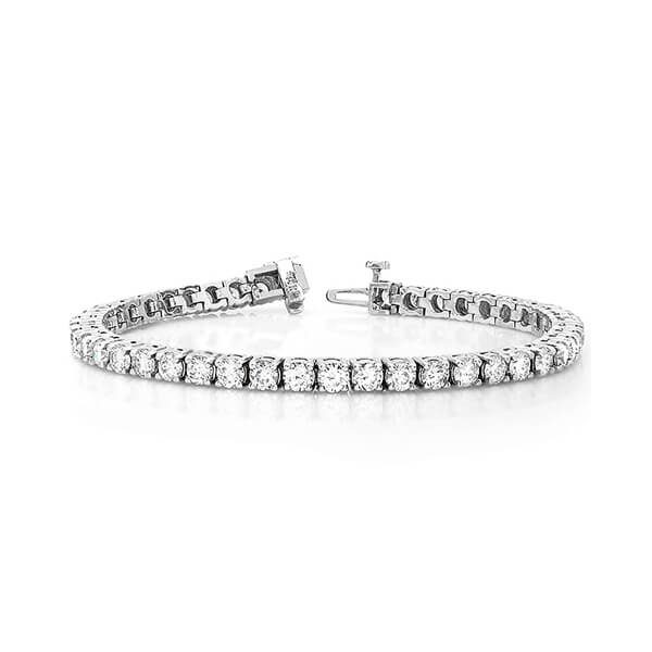 image of BR-D202 Diamond bracelets_4ct-diamond-tennis-bracelet-14k-white-gold-4 Carat-Tennis-Bracelet