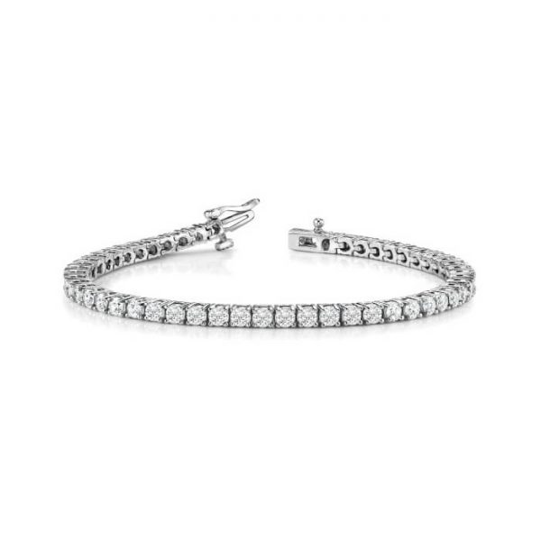 image of BR-D205 Diamond bracelets_5ct-diamond-tennis-bracelet-14k-white-gold-5 Carat-Tennis-Bracelet
