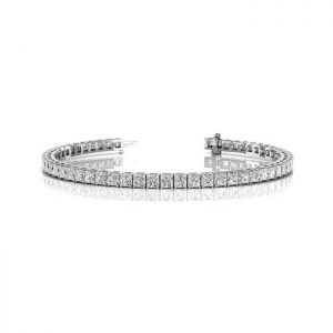 image of BR-D206 Diamond bracelets_6ct-princess cut diamond-tennis-bracelet-Tennis-Bracelet