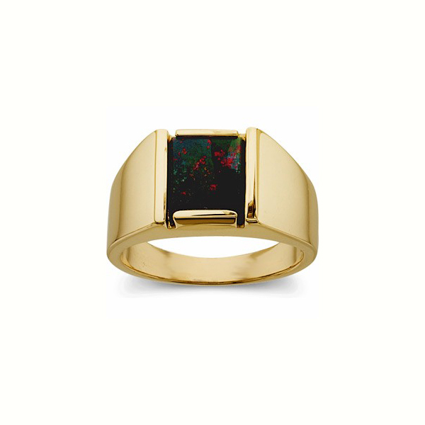 image of a mens stone ring