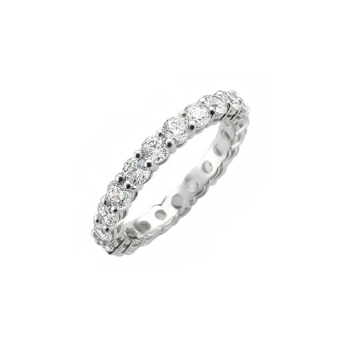 DIAMOND BANDS_FULL ETERNITY RING SET WITH TOTAL WEIGHT OF TWO CARATS_K-475 3.40g in 14K