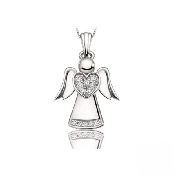 60-101 Angel with diamonds and chain