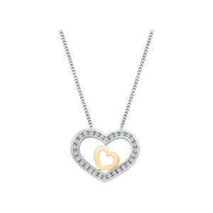 60-858 Heart pendants_Diamond set heart necklace 0.30ct. total weight