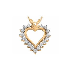 60-AJ Heart pendants_Diamond set heart necklace 0.50ct. total weight_