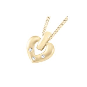 60-T042 Heart pendants_Diamond set heart necklace 0.06ct. total weight