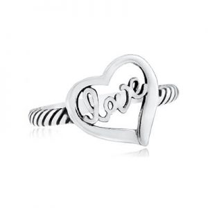 LOVE  Ring, New design nicest looking heart ring with detail, Available in yellow or white gold