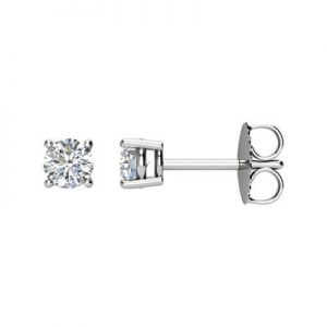 Image of the Earrings Round Cut Diamond Category
