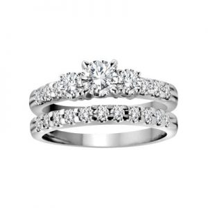 Image of an Engagement Rings Set Diamond Side Stones