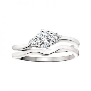 Image of Engagement Rings Set Diamond Trinity