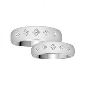 Image for His and Hers Matching Princess Cut Category Link
