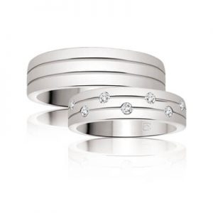 Image for the category of His and Hers Matching Wedding Ring Set Diamonds