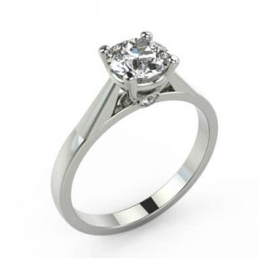 Image of an Individual Engagement Ring Diamond Solitaire