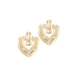 60-T42A Heart matching earrings, 0.08Ct. diamonds