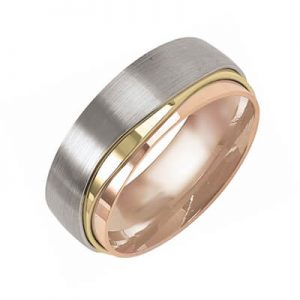 Image for Wedding Band Tri-Colour Unisex Category Link