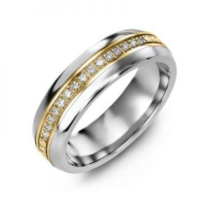 Image for Wedding Band Two Tone Unisex Category Link