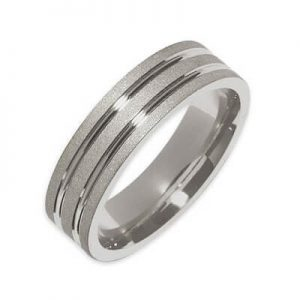 Image for Wedding Band White Gold Unisex Category Link